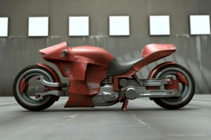 Concept - Red motorbike 2