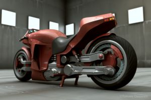 Concept - Red motorbike 3